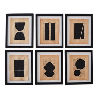 Josh Young Design House Noir Géométrique Collection Paintings - 6 Pieces For Sale