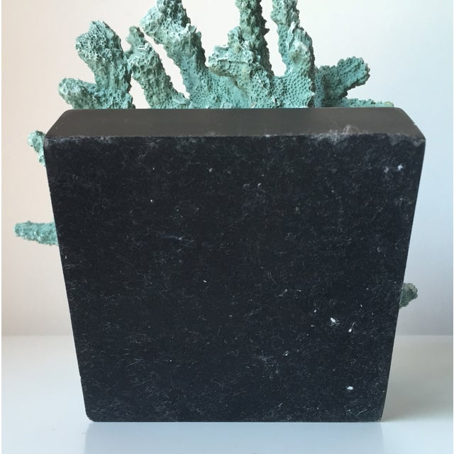 Blue Coral Sculpture on Base - Image 6 of 8