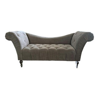 Early 21st Century Tufted Chaise Lounge For Sale
