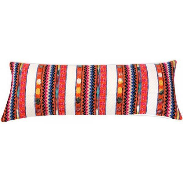 Uttejak Orange Embroidered Pillow - Image 3 of 3