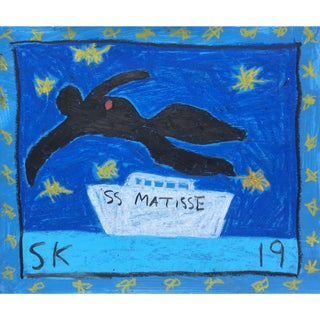 Abstract Boat Drawing by Sean Kratzert, 'Ss Matisse' For Sale