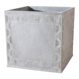Square Resin Elizabethan II Planter For Sale