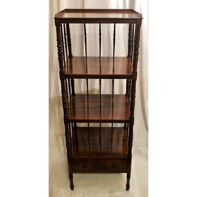 English Traditional Antique English Rosewood 4 Tier Etagere, Circa 1850. For Sale - Image 3 of 6