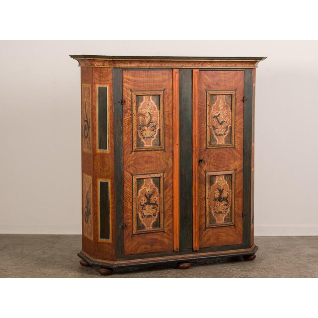 Antique German Hand Painted Dowry Cabinet, Two Doors, circa 1800 - Image 2 of 11