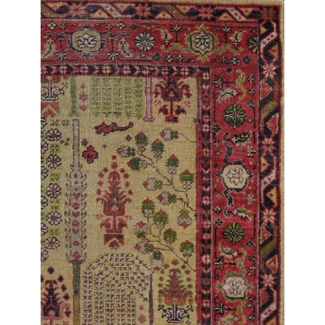 "Islamic Antique Turkish Sivas Carpet - Size: 3' 8"" X 6' 1"" For Sale - Image 3 of 5"