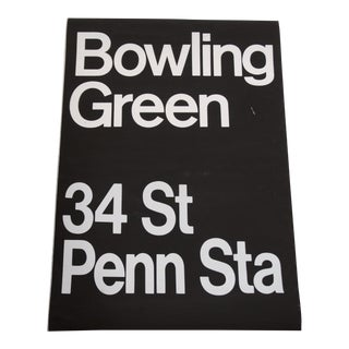 1980s New York City Subway Sign For Sale