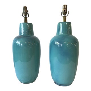 1950s Large Scale Design Technics Table Lamps - a Pair For Sale