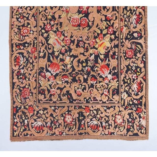 Late 19th Century Black Ground Oversized Karabagh Long Rug For Sale - Image 5 of 6