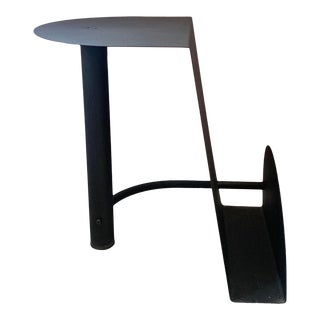 1980s Italian Post Modern Black Steel Table For Sale