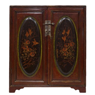 19th Century Chinese Carved Gilt Fujian Cabinet For Sale
