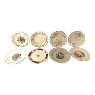 Vintage MisMatched China Dessert Plates - Set of 8 For Sale