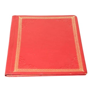 Vintage Moroccan Embossed Leather Padfolio For Sale