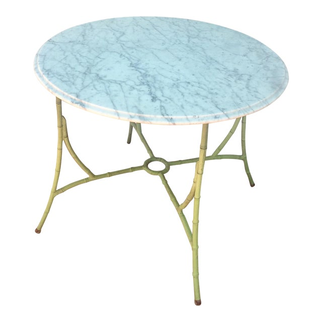 Marble Top Bistro Table - Image 1 of 8