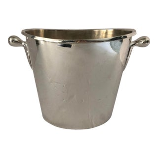 1970s French Silver Plate Ice Bucket For Sale