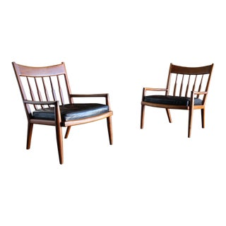John Nyquist Handcrafted Walnut Lounge Chairs Circa 1970 - a Pair For Sale