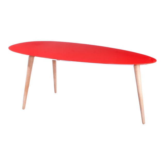 Large Red Egg Table For Sale