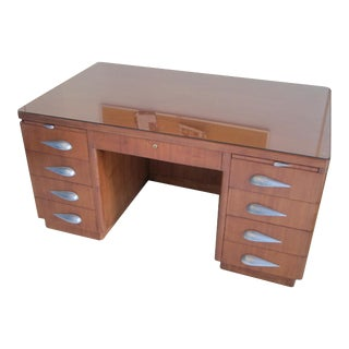 Rare Vintage Mid-Century Pedestal Desk