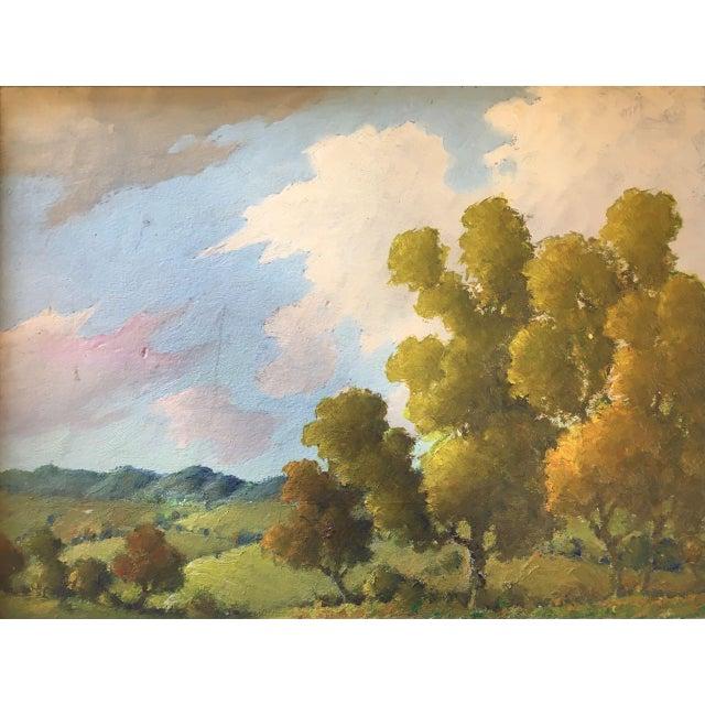 Framed, untitled landscape attributed to Benson Bond Moore. Benson Bond Moore (American Washington, D.C. 1882—1974...
