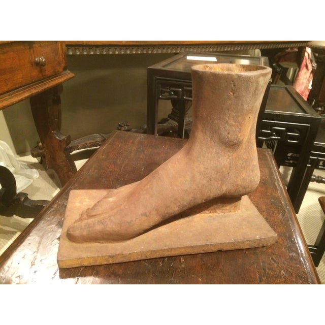 American American Folk Art Cast Iron Foot For Sale - Image 3 of 7