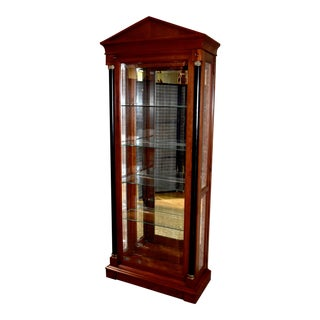 Vintage Ethan Allen Empire Style Two Door Curio For Sale