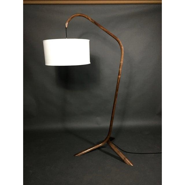 Daniel Oates Steambent Floor Lamp in Walnut For Sale - Image 10 of 10
