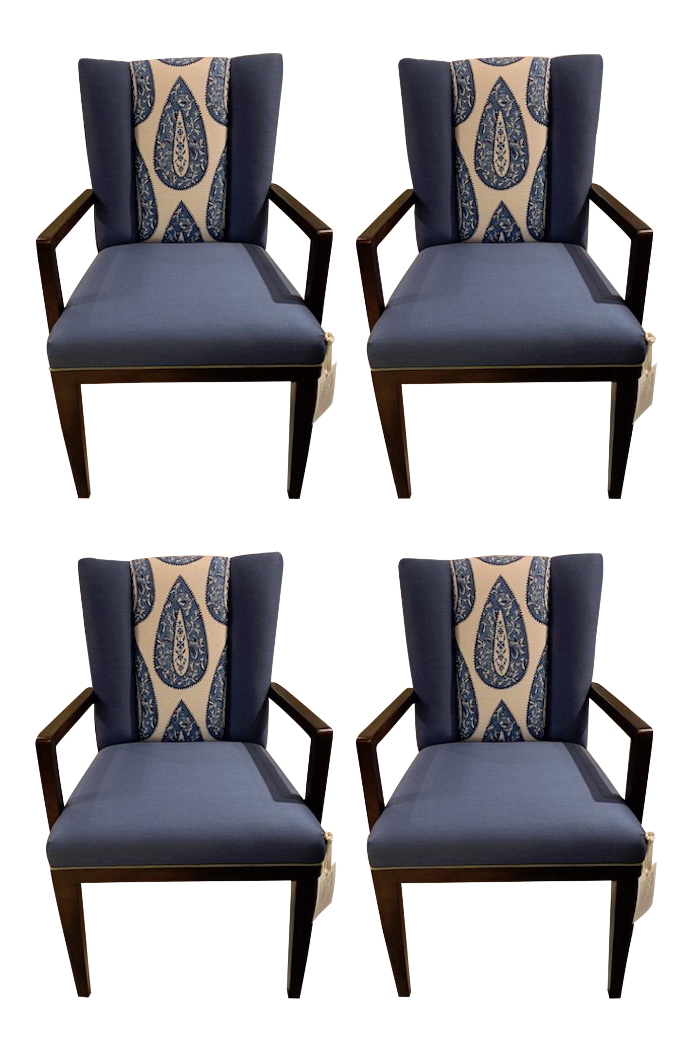 Henredon Paley Arm Chair Set of 4 For Sale