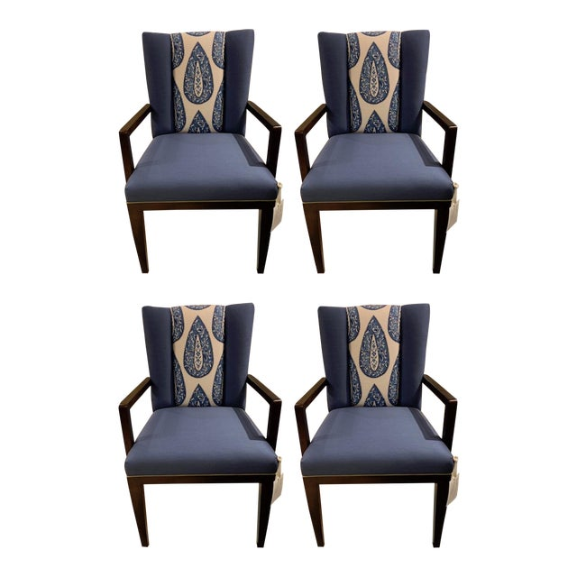 Henredon Paley Arm Chair - Set of 4 For Sale