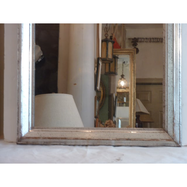 Antique Silver Leaf Wall Mirror For Sale - Image 4 of 6
