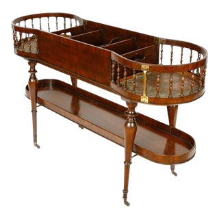 English Regency Mahogany Bar/Wine Cart For Sale