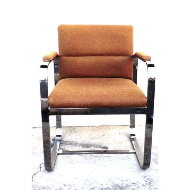 Mid-Century Modern Chrome Chairs - Set of 4 - Image 5 of 7