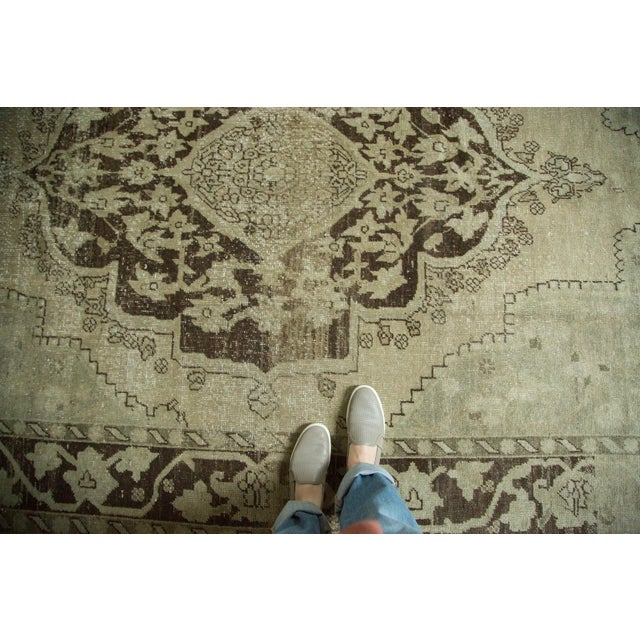"Textile Vintage Distressed Oushak Carpet - 6'10"" x 10'2"" For Sale - Image 7 of 10"