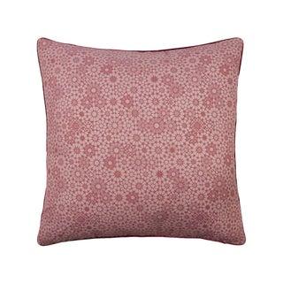 Maroc Double Sided Linen/Velvet Pillow, Cherry Pink