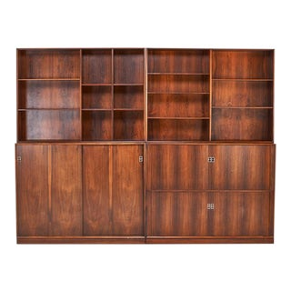 Danish Modern Rosewood Wall Unit, Circa 1970 For Sale