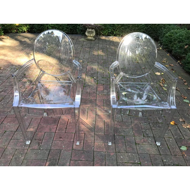 2010s Kartell Louis Ghost Chairs by Phillip Starck - a Pair For Sale - Image 5 of 5