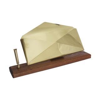 Desk Set Letter & Pen Holder Midcentury Modern Brass For Sale