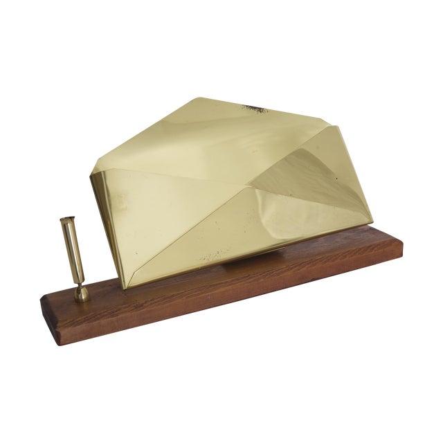 Midcentury Brass Letter & Pen Office Desk Set For Sale