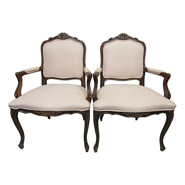 Pink Upholstered Fauteuils - A Pair - Image 2 of 7