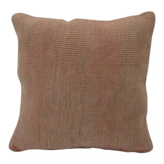 Vintage Handmade Rust Kilim Pillow Cover For Sale