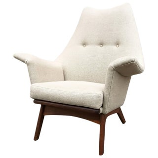 Mid-Century Adrian Pearsall Walnut Wingback Lounge Chair For Sale