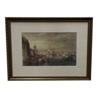 Custom Framed Watercolor Print of Venice