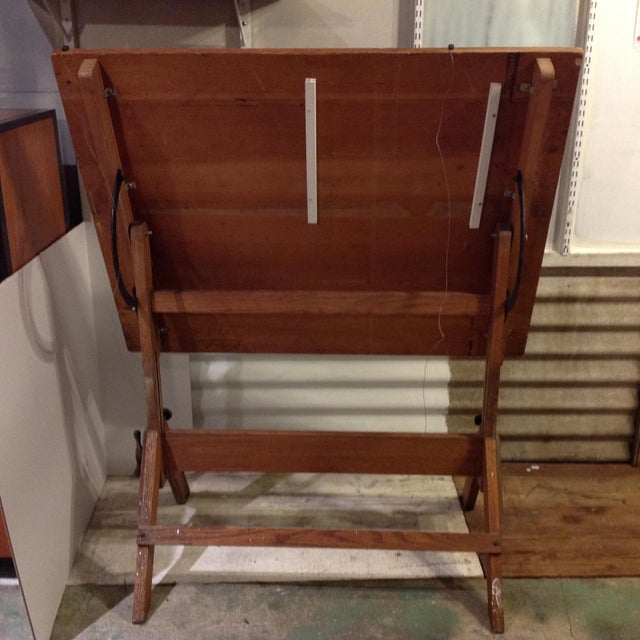 Antique Architect Drafting Table - Image 4 of 8