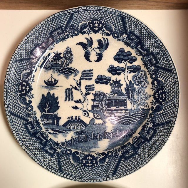 Beautiful trio of Willow plates-made in Japan
