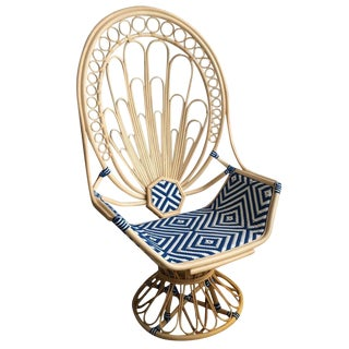 Selamat Designs Justina Blakeney Zahra Peacock Chair - Natural