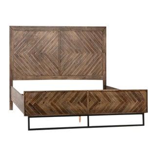 Acacia Herringbone Queen Bed For Sale