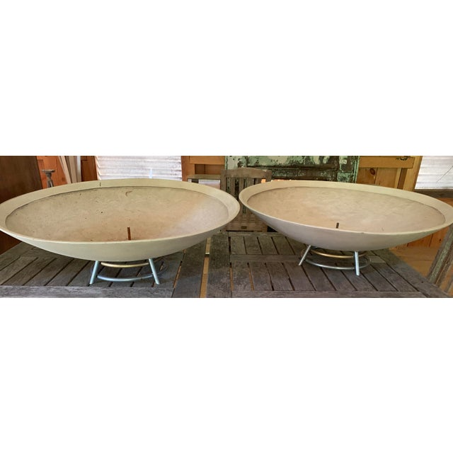 Metal Mid Century Modern Indoor Planters - a Pair For Sale - Image 7 of 7