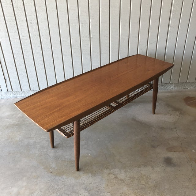 1950s Vintage Ikea Aarup Teak Surfboard Coffee Table Chairish
