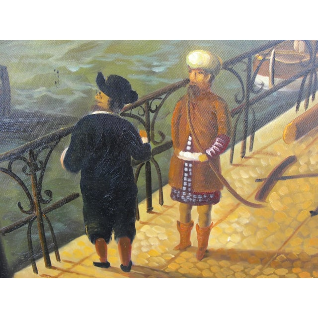 """""""Merchant Ship in Port"""" Painting - Image 8 of 10"""
