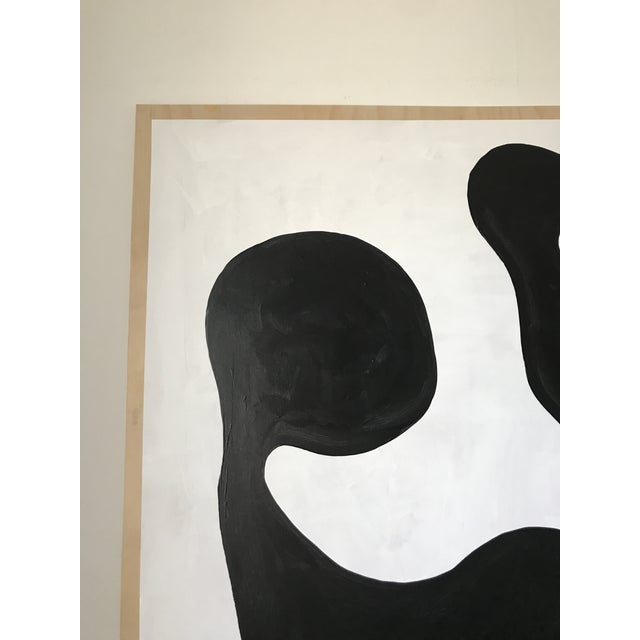 Black Modern Formation Monochrome Oversized Abstract Painting By Hannah Polskin For Sale - Image 8 of 11