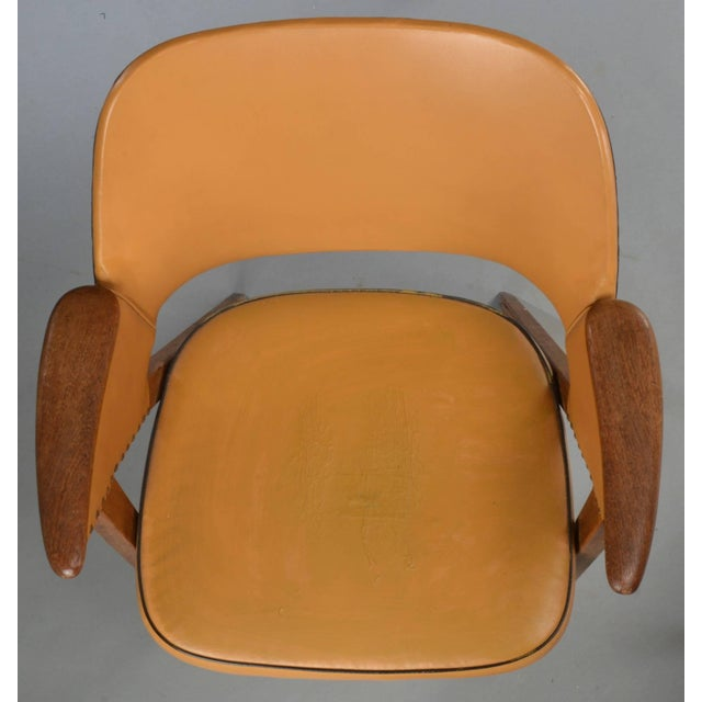 1960s Set of Four Danish Modern Midcentury Teak Armchairs For Sale - Image 5 of 8