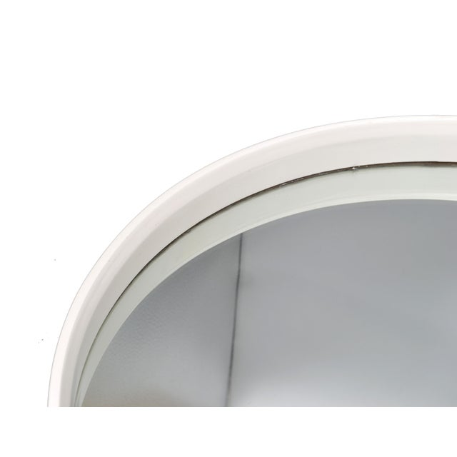 Round White Bentwood Wall Mirror For Sale - Image 5 of 8